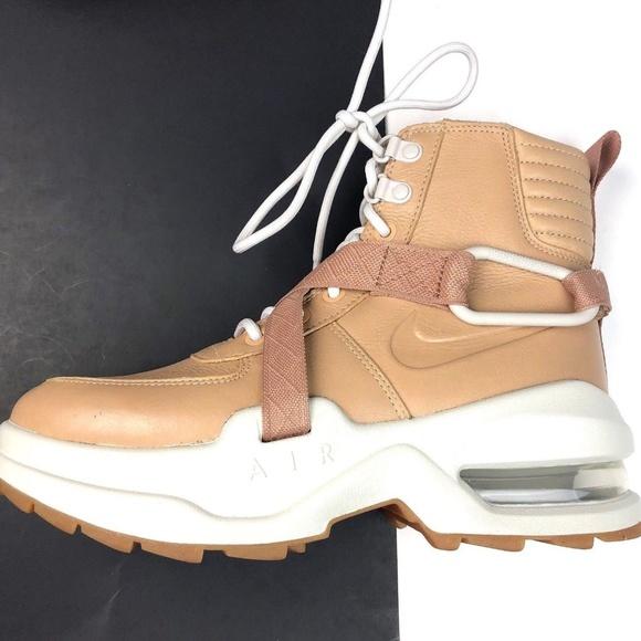 Nike Air Goadome Nude Tan Leather Boots NWT
